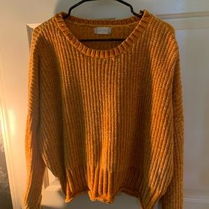 Altar'd State Mustard Yellow Sweater L